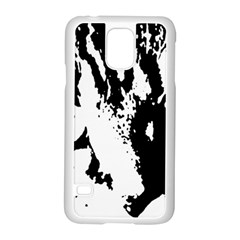 Cat Samsung Galaxy S5 Case (white) by Valentinaart