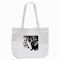 Cat Tote Bag (white) by Valentinaart