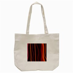 Colorful Striped Background Tote Bag (cream) by TastefulDesigns