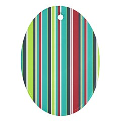 Colorful Striped Background  Ornament (oval) by TastefulDesigns