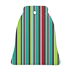 Colorful Striped Background  Bell Ornament (two Sides) by TastefulDesigns