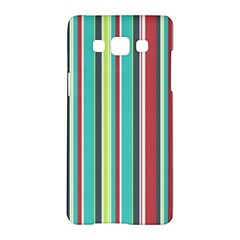 Colorful Striped Background  Samsung Galaxy A5 Hardshell Case  by TastefulDesigns