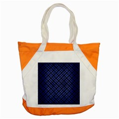 Woven2 Black Marble & Blue Brushed Metal Accent Tote Bag by trendistuff