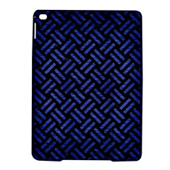 Woven2 Black Marble & Blue Brushed Metal Apple Ipad Air 2 Hardshell Case by trendistuff