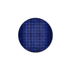 Woven1 Black Marble & Blue Brushed Metal (r) Golf Ball Marker (4 Pack) by trendistuff