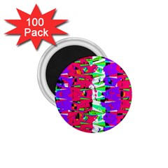 Colorful Glitch Pattern Design 1 75  Magnets (100 Pack)  by dflcprints