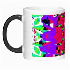 Colorful Glitch Pattern Design Morph Mugs by dflcprints