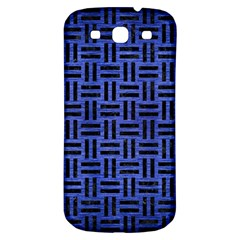 Woven1 Black Marble & Blue Brushed Metal (r) Samsung Galaxy S3 S Iii Classic Hardshell Back Case by trendistuff
