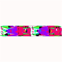 Colorful Glitch Pattern Design Small Bar Mats by dflcprints