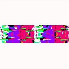 Colorful Glitch Pattern Design Large Bar Mats by dflcprints