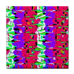 Colorful Glitch Pattern Design Face Towel by dflcprints