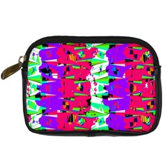 Colorful Glitch Pattern Design Digital Camera Cases by dflcprints