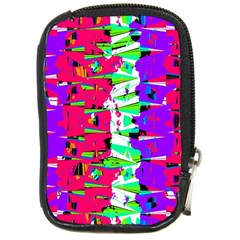 Colorful Glitch Pattern Design Compact Camera Cases by dflcprints