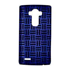 Woven1 Black Marble & Blue Brushed Metal (r) Lg G4 Hardshell Case by trendistuff