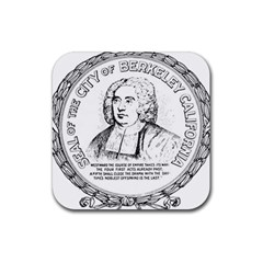 Seal Of Berkeley, California Rubber Coaster (square)  by abbeyz71