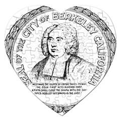 Seal Of Berkeley, California Jigsaw Puzzle (heart) by abbeyz71
