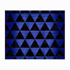 Triangle3 Black Marble & Blue Brushed Metal Small Glasses Cloth (2 Sides) by trendistuff