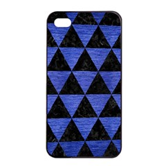 Triangle3 Black Marble & Blue Brushed Metal Apple Iphone 4/4s Seamless Case (black) by trendistuff