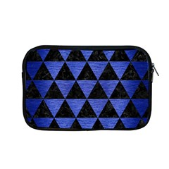 Triangle3 Black Marble & Blue Brushed Metal Apple Macbook Pro 13  Zipper Case by trendistuff