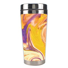 Yellow Marble Stainless Steel Travel Tumblers by tarastyle