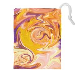 Yellow Marble Drawstring Pouches (xxl) by tarastyle