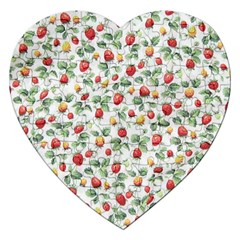 Strawberry Pattern Jigsaw Puzzle (heart) by Valentinaart