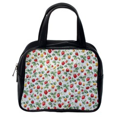 Strawberry Pattern Classic Handbags (one Side) by Valentinaart
