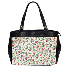 Strawberry Pattern Office Handbags (2 Sides)  by Valentinaart