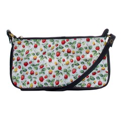 Strawberry Pattern Shoulder Clutch Bags by Valentinaart