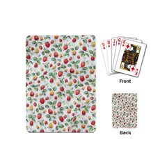 Strawberry Pattern Playing Cards (mini)  by Valentinaart