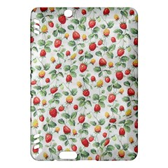 Strawberry Pattern Kindle Fire Hdx Hardshell Case by Valentinaart