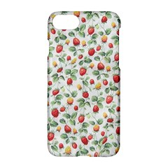 Strawberry Pattern Apple Iphone 7 Hardshell Case by Valentinaart