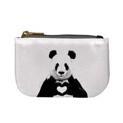 Panda Love Heart Mini Coin Purses