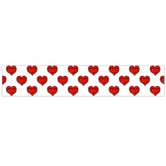 Emoji Heart Shape Drawing Pattern Flano Scarf (large)  by dflcprints