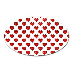 Emoji Heart Character Drawing  Oval Magnet by dflcprints