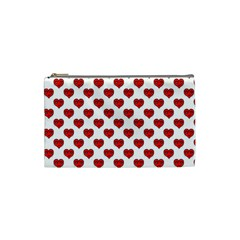 Emoji Heart Character Drawing  Cosmetic Bag (small)  by dflcprints
