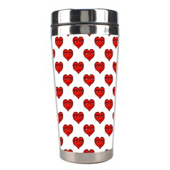 Emoji Heart Character Drawing  Stainless Steel Travel Tumblers by dflcprints