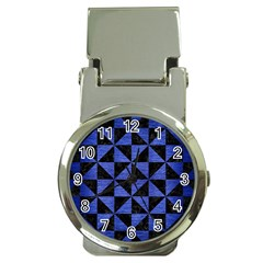 Triangle1 Black Marble & Blue Brushed Metal Money Clip Watch by trendistuff