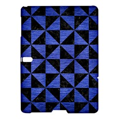 Triangle1 Black Marble & Blue Brushed Metal Samsung Galaxy Tab S (10 5 ) Hardshell Case  by trendistuff
