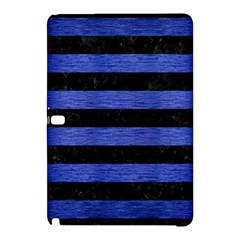 Stripes2 Black Marble & Blue Brushed Metal Samsung Galaxy Tab Pro 12 2 Hardshell Case by trendistuff