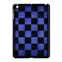 Square1 Black Marble & Blue Brushed Metal Apple Ipad Mini Case (black) by trendistuff