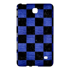 Square1 Black Marble & Blue Brushed Metal Samsung Galaxy Tab 4 (7 ) Hardshell Case  by trendistuff