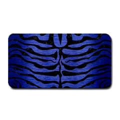 Skin2 Black Marble & Blue Brushed Metal (r) Medium Bar Mat by trendistuff