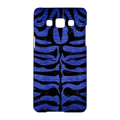 Skin2 Black Marble & Blue Brushed Metal (r) Samsung Galaxy A5 Hardshell Case  by trendistuff
