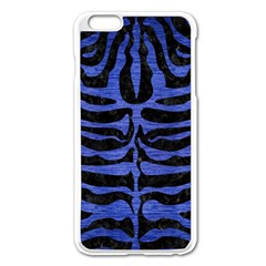 Skin2 Black Marble & Blue Brushed Metal Apple Iphone 6 Plus/6s Plus Enamel White Case by trendistuff