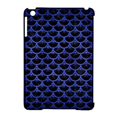 Scales3 Black Marble & Blue Brushed Metal Apple Ipad Mini Hardshell Case (compatible With Smart Cover) by trendistuff