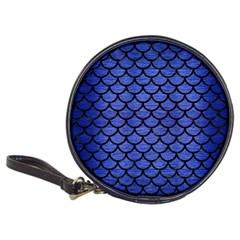 Scales1 Black Marble & Blue Brushed Metal (r) Classic 20 Cd Wallet by trendistuff