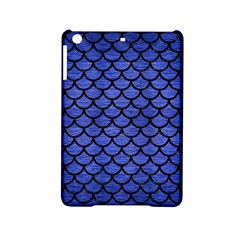 Scales1 Black Marble & Blue Brushed Metal (r) Apple Ipad Mini 2 Hardshell Case by trendistuff