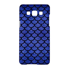 Scales1 Black Marble & Blue Brushed Metal (r) Samsung Galaxy A5 Hardshell Case  by trendistuff