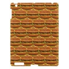 Delicious Burger Pattern Apple Ipad 3/4 Hardshell Case by berwies